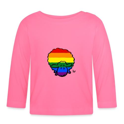 Rainbow Pride Sheep - Langarmet baby-T-skjorte