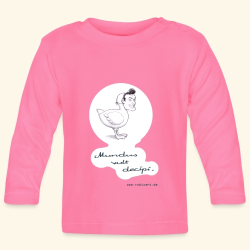 Mundus vult decipi (Ente) - Baby Langarmshirt