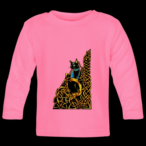 Celtic Cat - sitting - Baby Long Sleeve T-Shirt