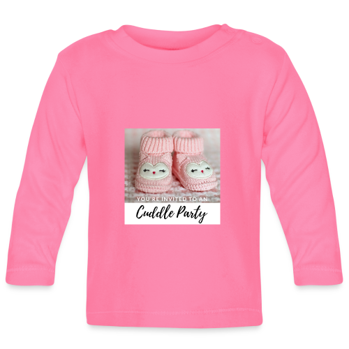 INVITED - CUDDLE PARTY rosa - Baby Langarmshirt