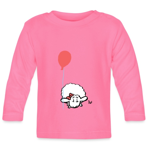 Agneau bébé avec ballon (rose) - T-shirt manches longues Bébé