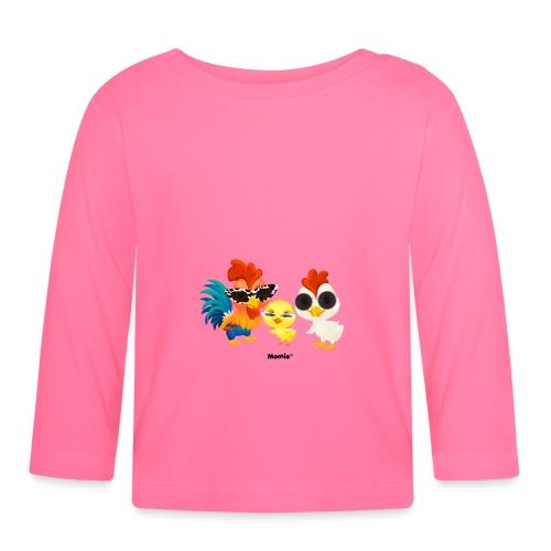 Huhn - von Momio Designer Emeraldo. - Baby Langarmshirt