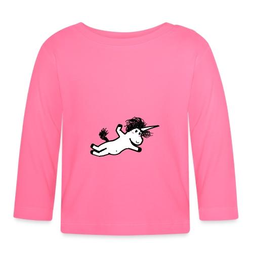 unicorno che si lancia sul nulla - Maglietta a manica lunga per bambini