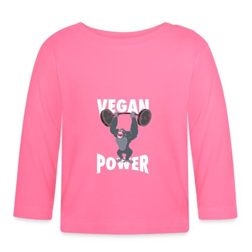 Vegan Power - Gorilla Bodybuilding - Baby Langarmshirt