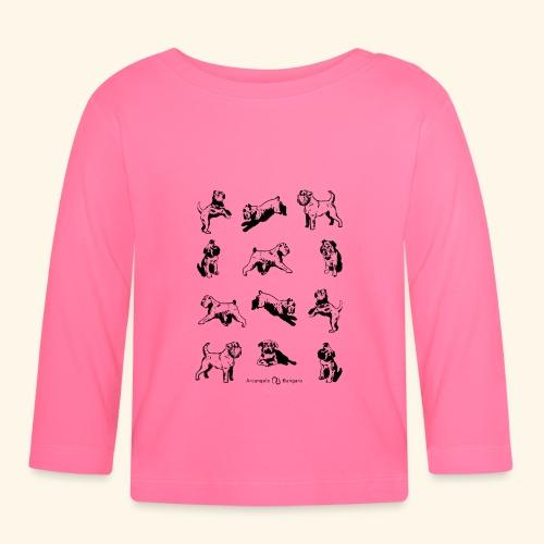 Brussels Griffon pattern - T-shirt manches longues Bébé