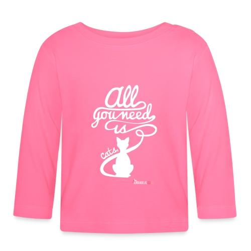 allyouneedblanco-png - Camiseta manga larga bebé