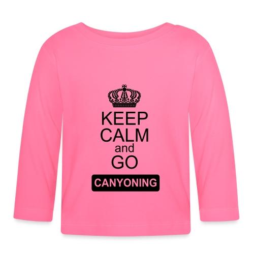 keep calm and go canyoning 2 - Baby Langarmshirt