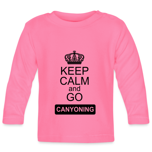 keep calm and go canyoning 2 - Baby Langarmshirt