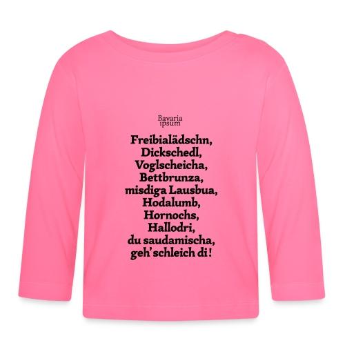 Bayrische Schimpfwörter Nr.2 - Baby Langarmshirt