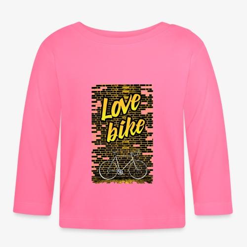 Love bike - Koszulka niemowlęca z długim rękawem