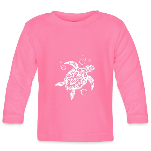 Watchful Turtle - Baby Long Sleeve T-Shirt