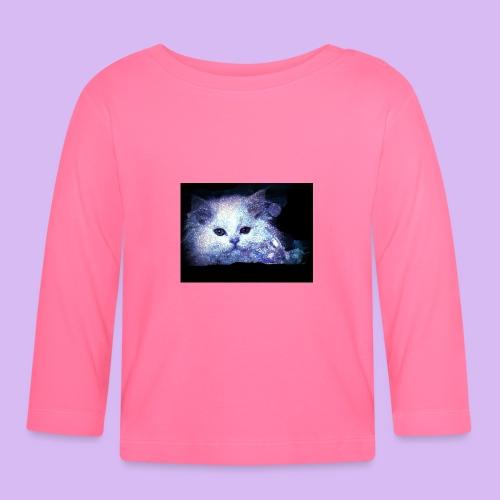 Gatto bianco glitter - Maglietta a manica lunga per bambini