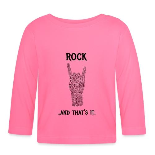 Rock e basta. - Maglietta a manica lunga per bambini