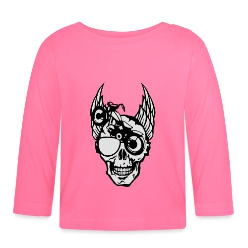 tete mort moto skull aile motard oeil - T-shirt manches longues Bébé