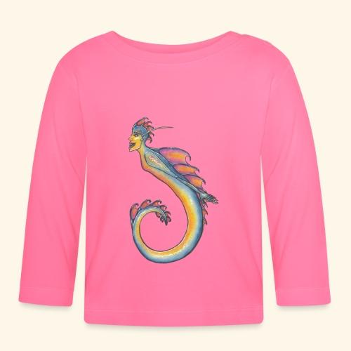 Färgglad sjöjungfru - Långärmad T-shirt baby