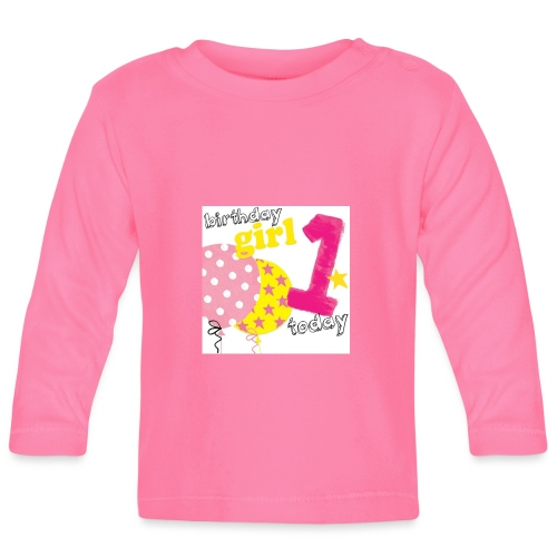 1 today birthday girl - Baby Long Sleeve T-Shirt