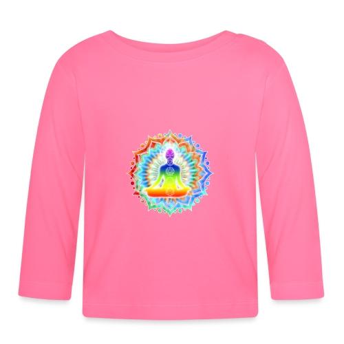 Yoga Lotus Chakra Meditation II.png - Baby Langarmshirt
