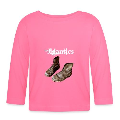 The Jigantics boot logo - white - Baby Long Sleeve T-Shirt