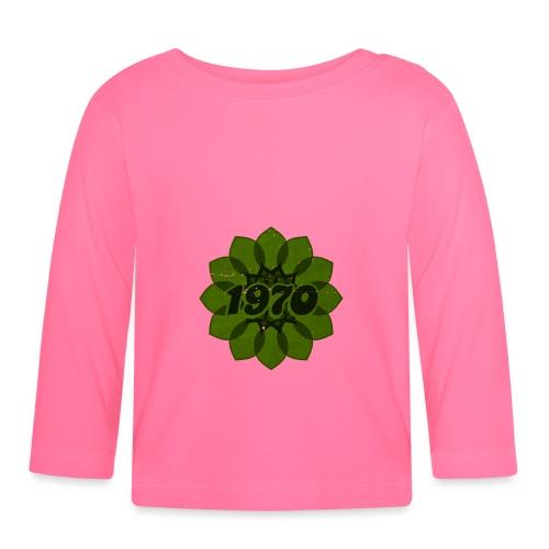 1970 retro flower - Baby Langarmshirt