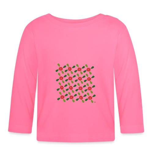 redgreen 70s flower pattern - Baby Langarmshirt