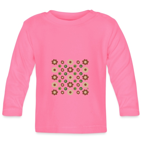 flowers and olives - Baby Langarmshirt