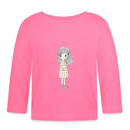 meisje met roze jurk - T-shirt