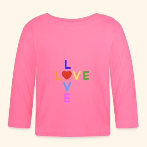 Rainbow Love. Regenbogen Liebe - Baby Langarmshirt