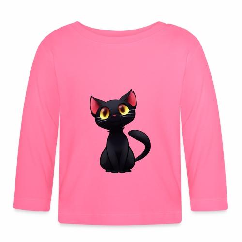 Black Cat - gatto nero - Maglietta a manica lunga per bambini