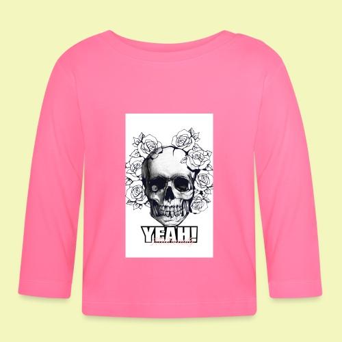 YEAH Skull KIssen - Baby Langarmshirt