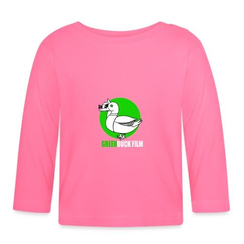 Greenduck Film Ghost Duck Logo White Letters - Langærmet babyshirt