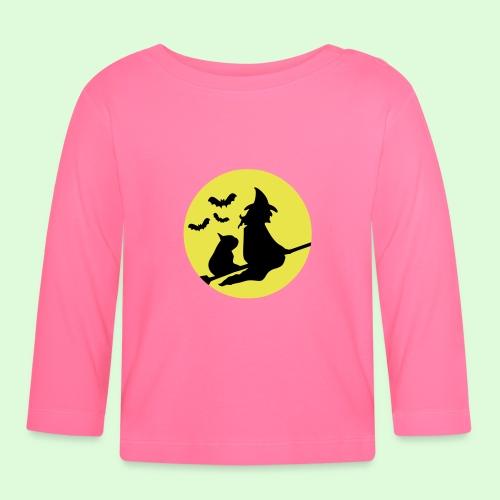 La sorcière au Bouledogue - T-shirt manches longues Bébé