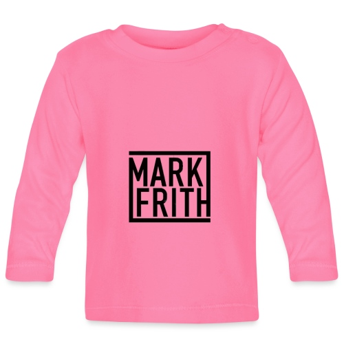 MARK FRITH Logo BLACK - Baby Long Sleeve T-Shirt
