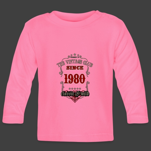 Vintage club since 1980 classic and wild - grey - Baby Langarmshirt