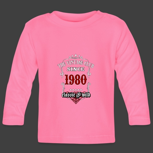 Vintage club since 1980 classic and wild - - Baby Langarmshirt