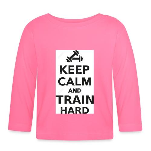keep calm and train hard - Långärmad T-shirt baby