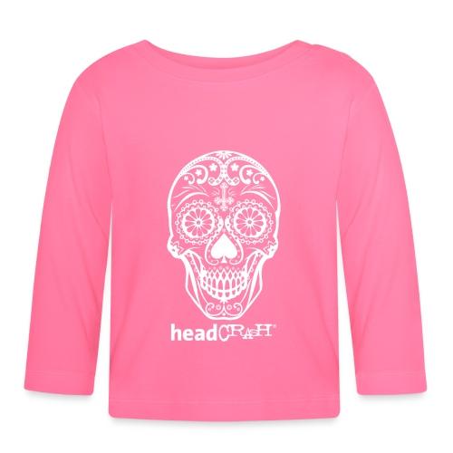 Skull & Logo white - Baby Langarmshirt