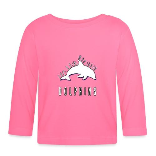 Bara en simpel tjej som älskar delfiner - Långärmad T-shirt baby