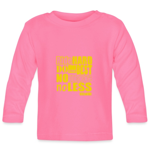 ridehard yellow - Baby Long Sleeve T-Shirt
