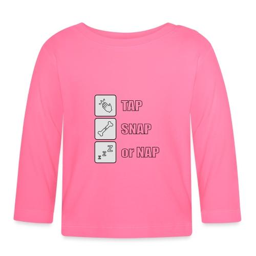 tap snap or nap - Koszulka niemowlęca z długim rękawem