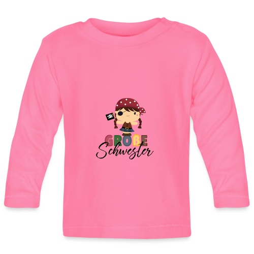 Große Schwester Piraten - Baby Langarmshirt