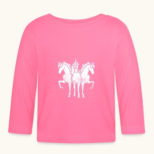 Licorne Troika Weiss rigolo idée cadeau - T-shirt manches longues Bébé