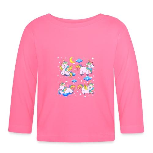 Enhörningar - Långärmad T-shirt baby