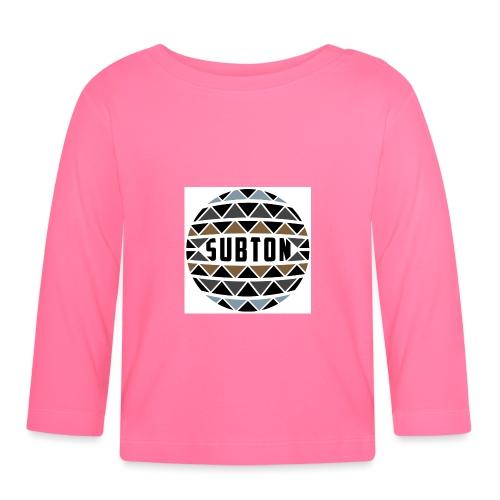 wereldbol_subton2-jpg - Baby Long Sleeve T-Shirt