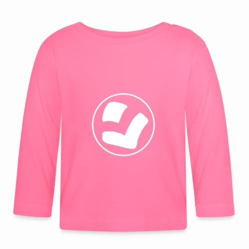 LaidPark White Logo - Vauvan pitkähihainen paita