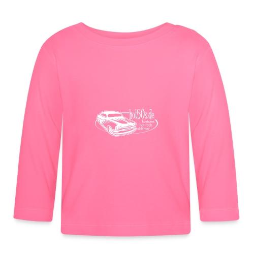 hot50s Logo weiss - Baby Langarmshirt