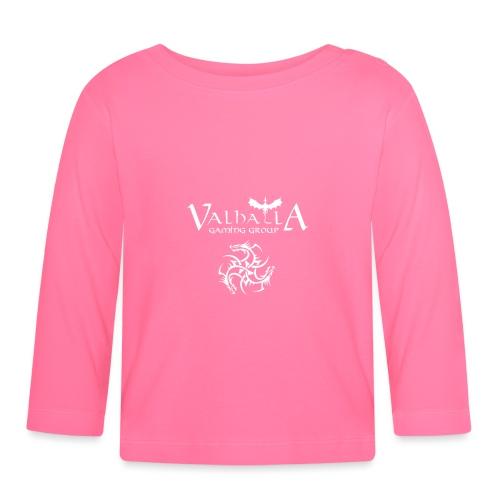 valhalla logo dragon front - Langærmet babyshirt