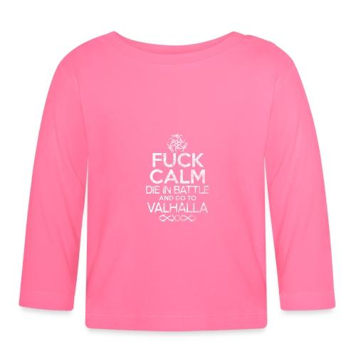 valhalla dragon logo fuck calm - Langærmet babyshirt
