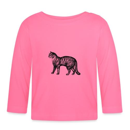 Retro Katze - Baby Langarmshirt