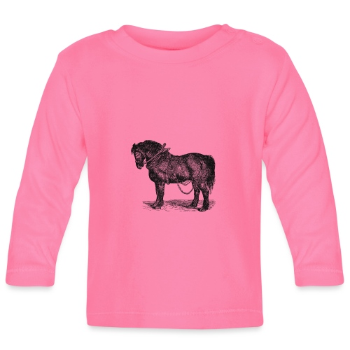 Arbeitspferd - Baby Langarmshirt