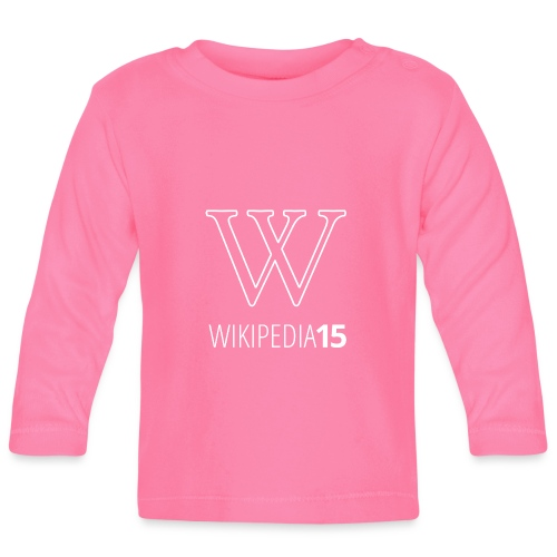 W, rak, svart - Långärmad T-shirt baby